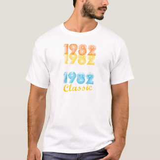 35th Birthday Gift Vintage 1982 T-Shirt for Men