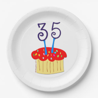 35th Birthday Paper Plate