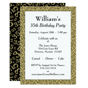 35 Years Old 35th Gifts Birthday Invitations