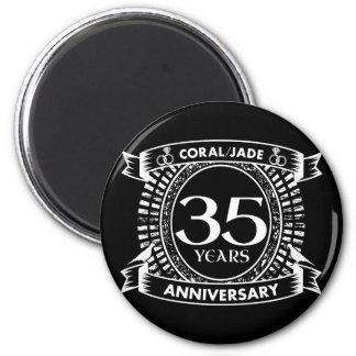35th wedding anniversary Coral Jade crest Magnet