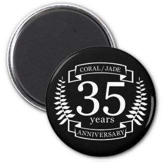 35th Wedding ANNIVERSARY JADE / CORAL Magnet