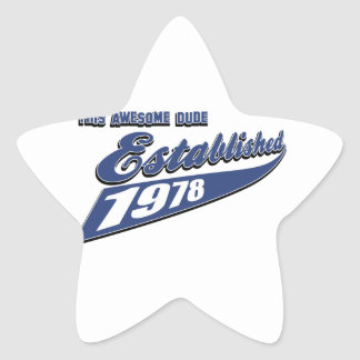 35th year old birthday designs star sticker