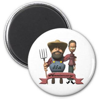 35thanniversaryt-shirts4 6 cm round magnet