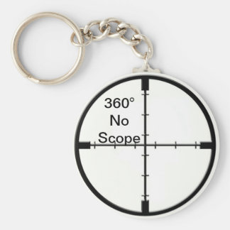 360 No Scope Video Game Joke FPS keychain