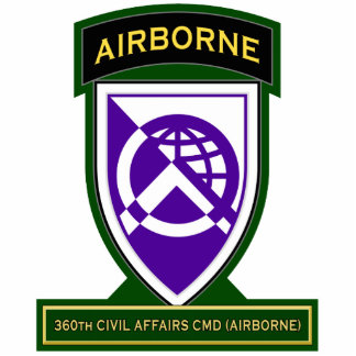 360th Civil Affairs Command - Airborne SSI Standing Photo Sculpture