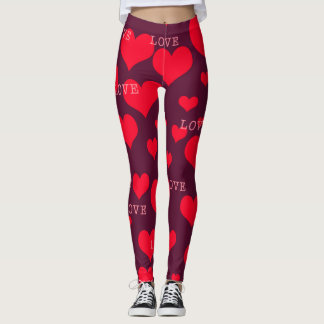 365 Days of Yoga. Day 36. Hearts and Loves. Leggings
