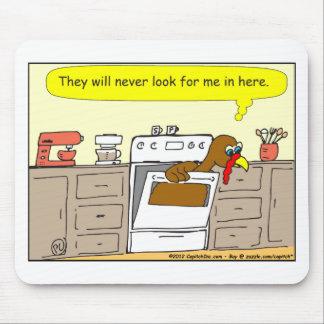 367 turkey in oven Cartoon Mousepad