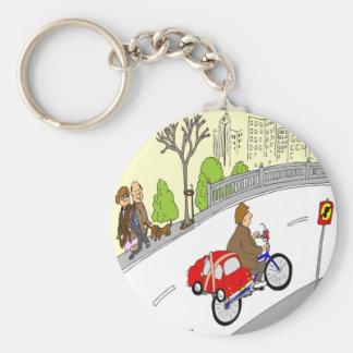 368 smart car bike rack cartoon key ring