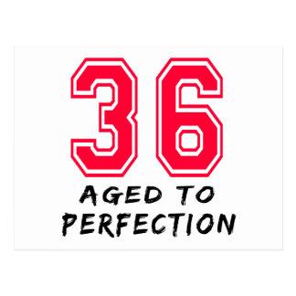 36 Aged To Perfection Birthday Design Postcard