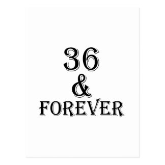 36 And  Forever Birthday Designs Postcard