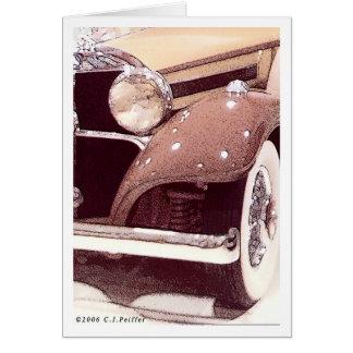 '36 Benz 1' Card