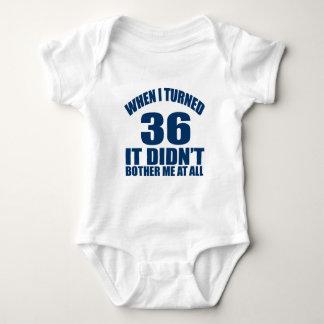 36 Birthday Designs Baby Bodysuit