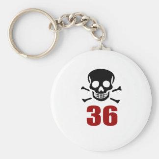 36 Birthday Designs Key Ring