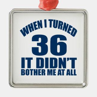 36 Birthday Designs Metal Ornament
