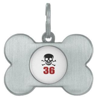 36 Birthday Designs Pet ID Tag