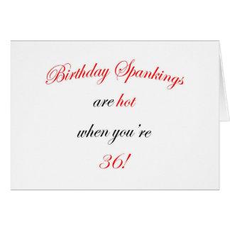 36 Birthday Spanking Card