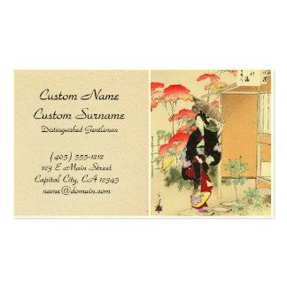 36 Examples of Beauties Tea ceremony Toshikata Business Card Templates