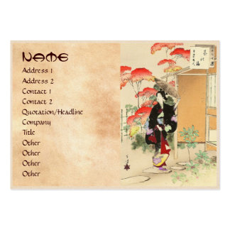 36 Examples of Beauties Tea ceremony Toshikata Business Cards