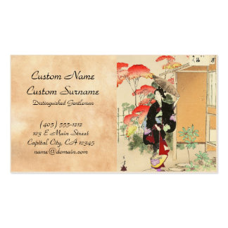 36 Examples of Beauties, Tea ceremony Toshikata Pack Of Standard Business Cards