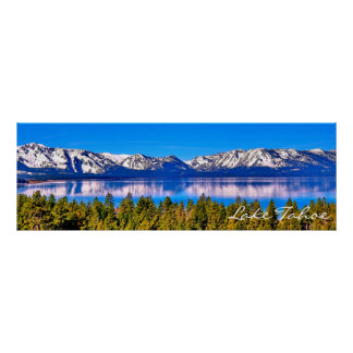 "36"" X 12"" BEAUTIFUL LAKE TAHOE POSTER (MATTE)"