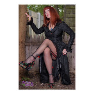 "36"" x 24"" Chrissy Kittens Witch In The Woods Poster"