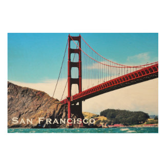 36 X 24 GOLDEN GATE BRIDGE WOOD WALL ART