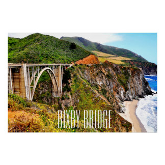 36 X 24 PREMIUM GLOSS CANVAS BIXBY BRIDGE POSTER