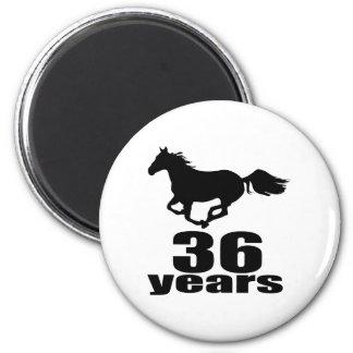 36 Years Birthday Designs Magnet