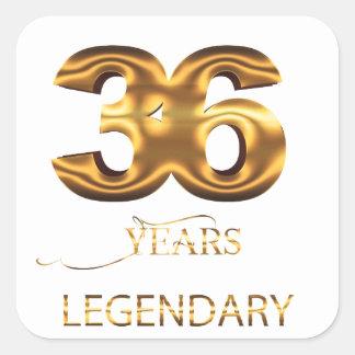 36 years legendary sticker