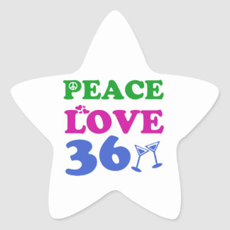 36 years Old birthday designs Star Sticker