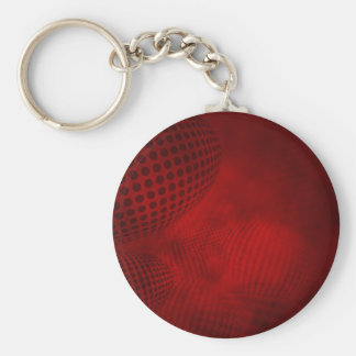 36set4red basic round button key ring