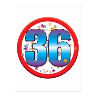 36th Birthday v2 Postcard