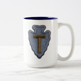 36th infantry division veterans iraq vets frosty M Two-Tone Coffee Mug