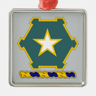 36th Infantry Regiment Silver-Colored Square Decoration