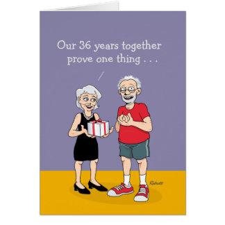 36th Wedding Anniversary Card: Love Greeting Card