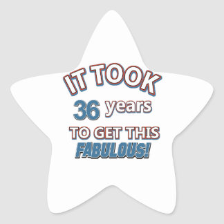 36th year birthday designs stickers
