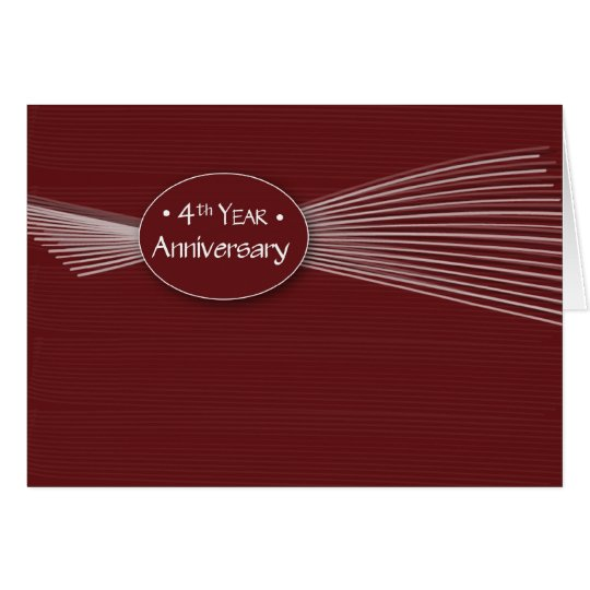3702   4th Year Employee Anniversary Card