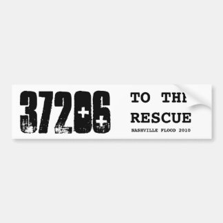 37206, TO THE RESCUE, NASHVILLE FLOOD 2010 BUMPER STICKER