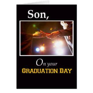 3733 Son, Graduation Day Diploma Card
