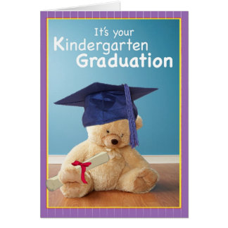 3734 Kindergarten Graduation Teddy Bear Card