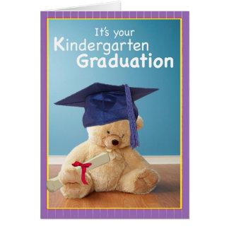 3734 Kindergarten Graduation Teddy Bear Greeting Cards
