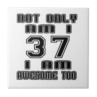 37 Birthday Designs Small Square Tile