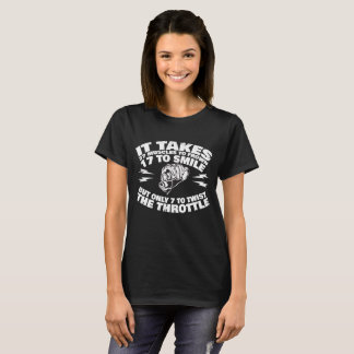 37 Muscles Frown; 17 Smile, 7 Twist Throttle T-Shirt