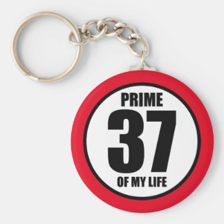 37 - prime of my life basic round button key ring