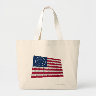 37-star flag, Double Medallion pattern Canvas Bags