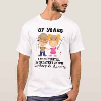 37th Anniversary Custom Gift For Him T-Shirt
