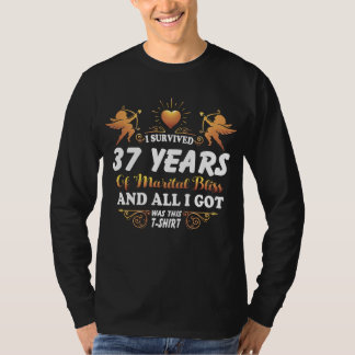 37th Anniversary Shirt For Husband Wife.