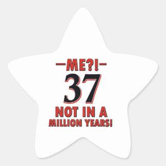 37th birthday designs sticker