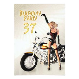 37th Birthday party Invitation