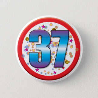37th Birthday v2 6 Cm Round Badge